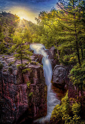 Photograph - Sunrise At Shell Falls by Rikk Flohr