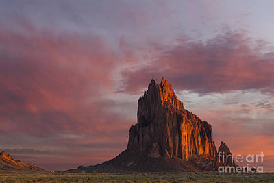 Photograph - Sunrise At Shiprock New Mexico by Keith Kapple