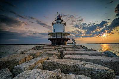 Photograph - Sunrise At Spring Point Ledge by Rick Berk