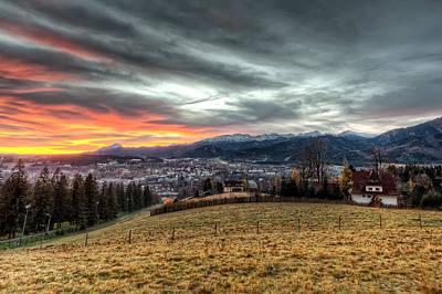 Sunrise At Tatra Mountains - Zakopane Art Print