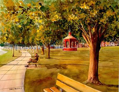 Bandstand Painting - Sunrise At The Bandstand by Dan McCole