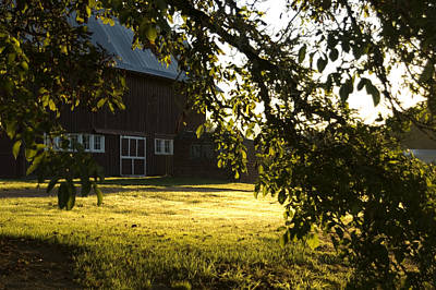 Photograph - Sunrise At The Barn by Sara Stevenson
