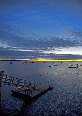 Photograph - Sunrise At The Barnstable Yacht Club by Charles Harden