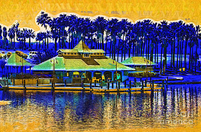 Digital Art - Sunrise At The Boat Dock by Kirt Tisdale