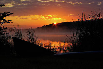 Photograph - Sunrise At The Boat Launch by Paul Wash