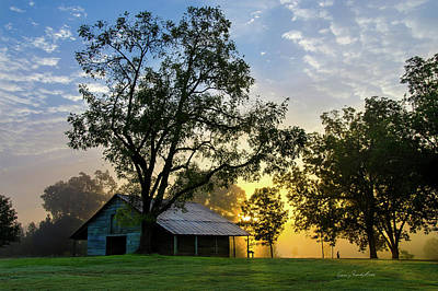 Print featuring the photograph Sunrise At The Farm by George Randy Bass