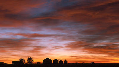 Sunrise At The Farm Art Print