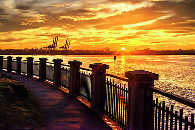 Photograph - Sunrise At The Harbor by John Poon