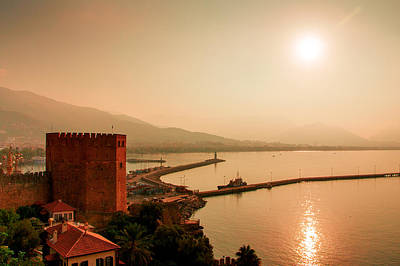 Photograph - Sunrise At The Harbor Of Alanya by Sun Travels