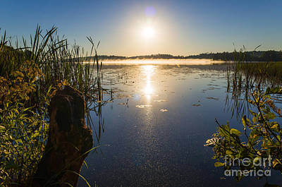 Photograph - Sunrise At The Lake Enajarvi by Ismo Raisanen