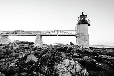 Photograph - Marshall Point Lighthouse Shoreline by Crystal Wightman