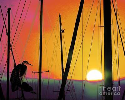Avant Garde Photograph - Sunrise At The Marina by Scott Cameron