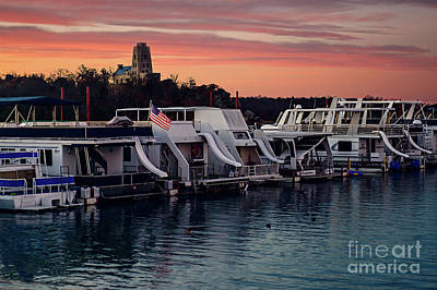Lake Murray Sunrise At The Marina Art Print by Tamyra Ayles