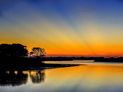 Photograph - Sunrise At The Marsh Walk by Terry Shoemaker