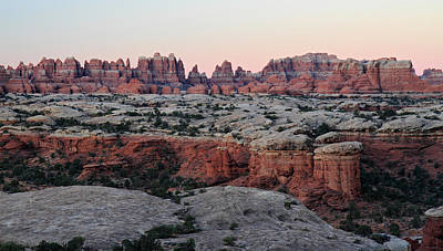 Sunrise At The Needles In Canyonlands National Park Art Print