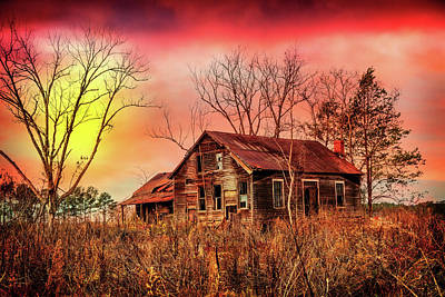 Abandoned Cabins Smoky Mountains Wall Art - Photograph - Sunrise At The Old Family Farm by Debra and Dave Vanderlaan