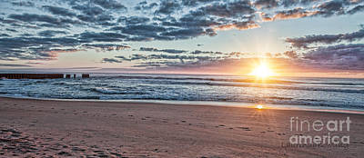 Photograph - Sunrise At The Outer Banks by Laurinda Bowling