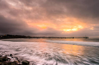 Photograph - Sunrise At The Pier by Jeff Landis