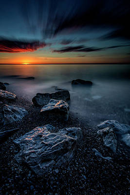 Photograph - Sunrise At The Point by CA Johnson