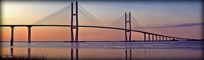 Sunrise At The Sidney Lanier Bridge Art Print