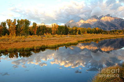 Photograph - Sunrise At The Tetons by Cynthia Mask