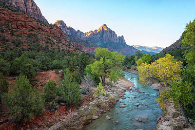 Southwestern Photograph - Sunrise At The Watchman - Zion National Park - Utah by Brian Harig
