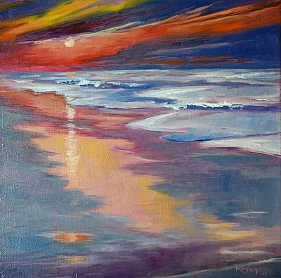 Painting - Sunrise At Topsail by Bernie Rosage Jr