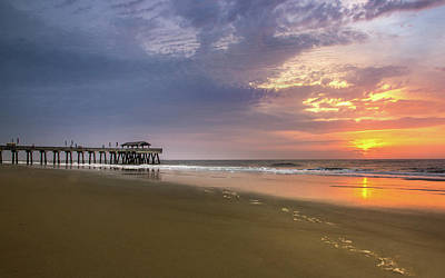Photograph - Sunrise At Tybee Island Pier by James Woody