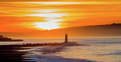 Photograph - Sunrise At Walton Lighthouse by Nick Borelli