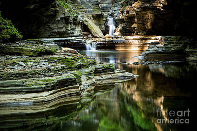 Photograph - Sunrise At Watkins Glen State Park by Brad Marzolf Photography
