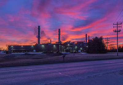 Photograph - Sunrise At Waupaca Foundry Plants 2 And 3 3-24-2018 by Thomas Young