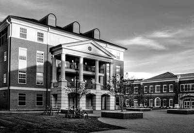Photograph - Sunrise At Western Carolina University In Black And White by Greg Mimbs