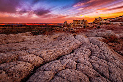 Photograph - Sunrise At White Pockets by Michael Ash