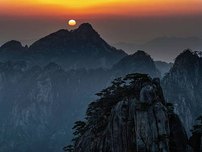 Photograph - Sunrise At Yellow Mountain by Usha Peddamatham
