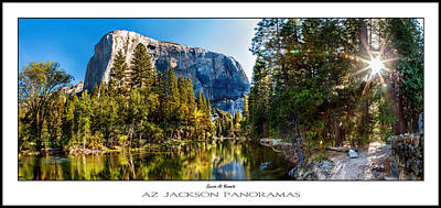 Sol Photograph - Sunrise At Yosemite Poster Print by Az Jackson