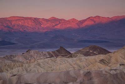 Photograph - Sunrise At Zabriskie Point by Kunal Mehra
