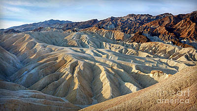 Photograph - Sunrise At Zabriskie Point by Martin Konopacki