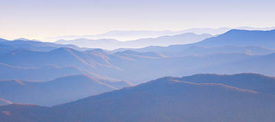 Sunrise Atop Clingman's Dome Gsmnp Art Print