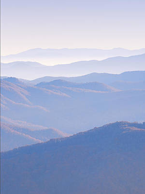 Photograph - Sunrise Atop Clingman's Dome  Mtriptych by Jeff Abrahamson