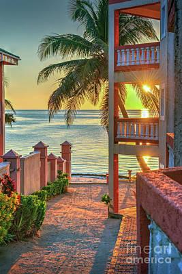Photograph - Sunrise Balcony by David Zanzinger