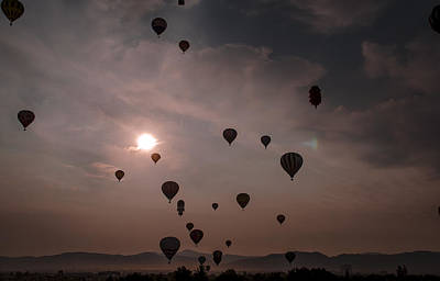 Hot Air Balloon Race Photograph - Sunrise Balloons by Rick Mosher