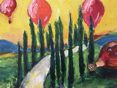 Food And Beverage Painting - Sunrise Balloons by Roxy Rich