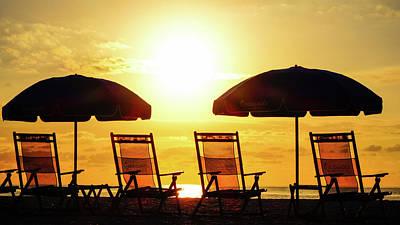 Photograph - Sunrise Beach Chairs Delray Beach Florida by Lawrence S Richardson Jr