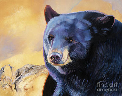 Painting - Sunrise Bear by J W Baker