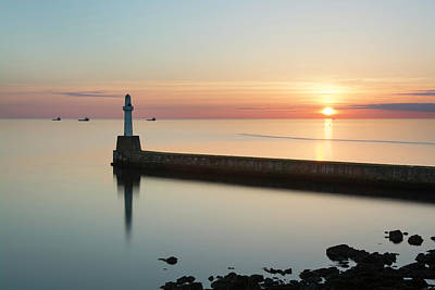 Photograph - Sunrise Behind South Breakwater by Veli Bariskan