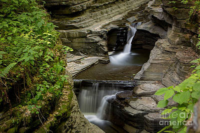 Photograph - Sunrise Below Rainbow Falls At Watkins Glen by Brad Marzolf Photography