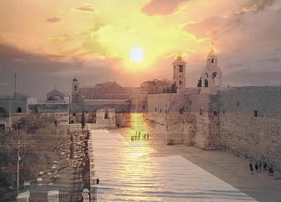 Nativity Digital Art - Sunrise Bethlehem by Munir Alawi