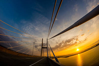 Photograph - Sunrise Between The Cables by Chris Bordeleau