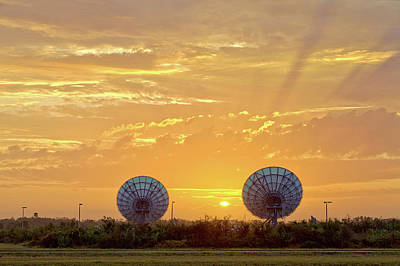 Photograph - Sunrise Between The Dishes by Gordon Elwell