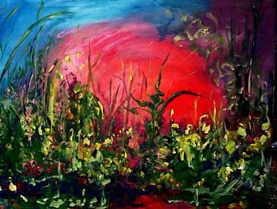 Sunrise Blooming Art Print by Ellen Seymour